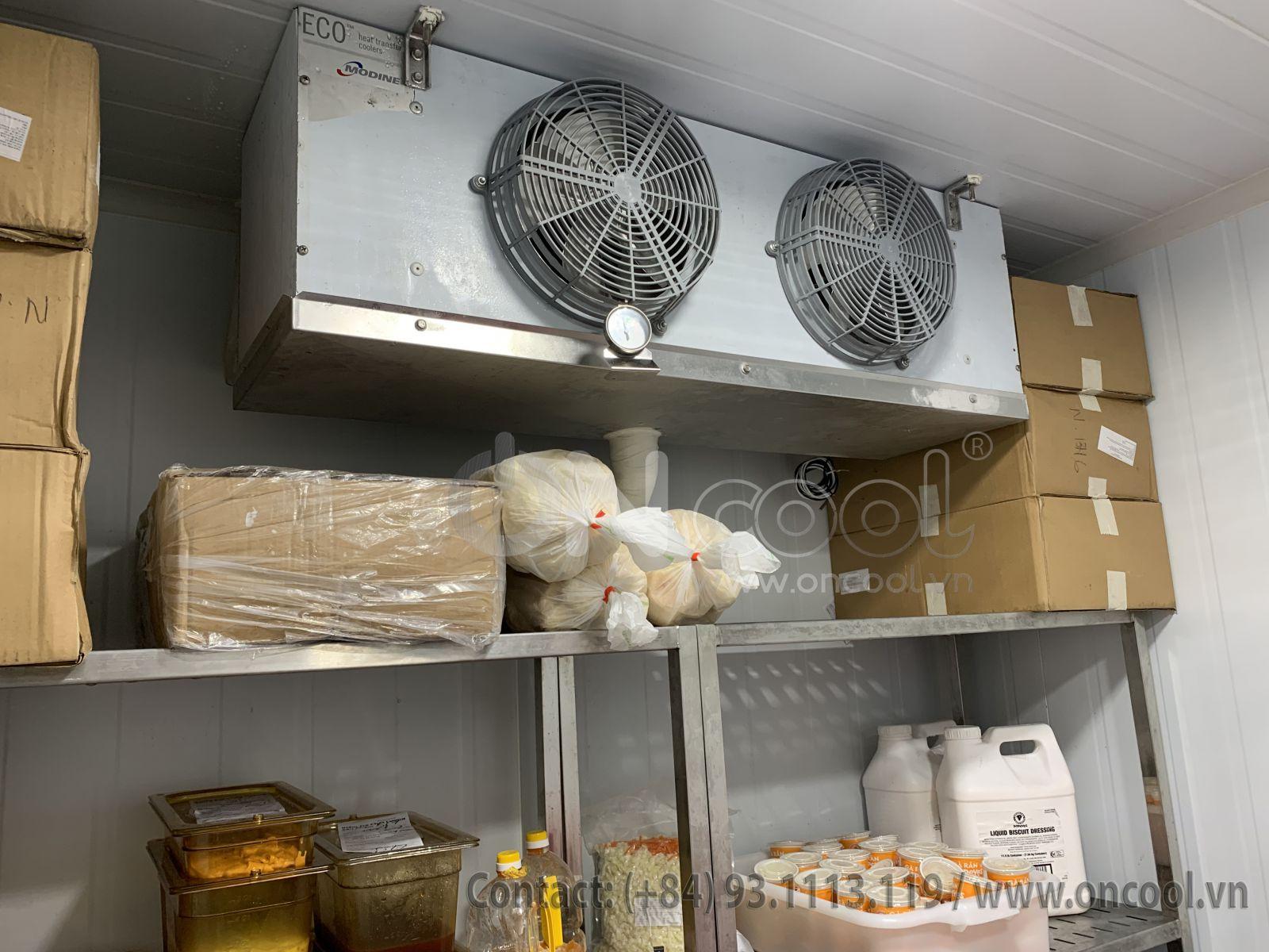 Kho đông lạnh công nghiệp này cấp đông ở nhiệt độ từ – 20°C đến – 30ºC